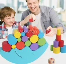 1 Set Balance Moon Early Education Wooden Block Puzzle Game Development Toys