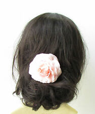 Light Blush Pink Camellia Flower Hair Comb Bridesmaid Floral Rose Corsage 1941