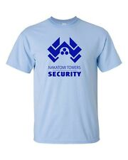 Nakatomi Towers Security Movie Die Hard Bruce Willis Men's Tee Shirt 304Blue