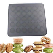 Macaron Macaroon Sheet Silicone Baking Mat 30 Cavity Pastry Muffin Mould New
