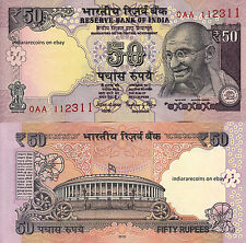 INDIA 0AA 2016 New Design 50 RS No Inset Offset Printing Bank Note Rajan UNC NEW