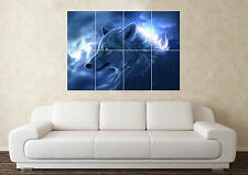 Large Fantasy Wolf Animal Sword Myth Gothic Magic Wall Poster Art Picture Print