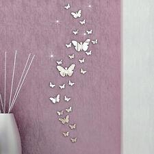30 Pcs Home Exquisite DIY Art Modern 3D Acrylic Mirror Butterflies Wall Stickers