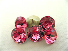 6 Rose Foiled Swarovski Crystal Chaton Stone 1088 39ss 8mm