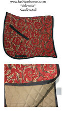 """SWALLOW TAIL  """"VALENCIA"""" RED GOLD BAROQUE DRESSAGE SADDLE PAD"""