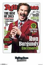 ANCHORMAN 2 MOVIE POSTER ~ UNCENSORED 22x34 Will Ferrell Legend Ron Burgundy RS