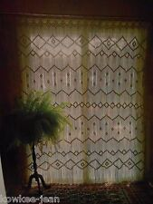 Macrame curtains and room dividers, van, plant hangers, Vtg patterns - see pics