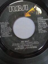 """ELVIS PRESLEY 45 RPM """"My Way"""" & """"Way Down"""" VG+ condition"""