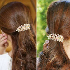 Women Fashion Crystal Rhinestone Flower Hair Clip Barrette Hairpin Jewelry Gifts