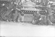 RETIRAGE PHOTO 2° DIVISION CUIRASSEE 17° BATAILLON CHASSEURS A PIED TANKS CHARS