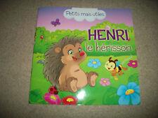 henri le hérisson, livret de poches, livre pour enfant, neuf