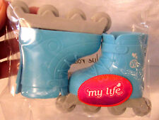 """American My Life Clothes BLUE Roller Skates Rollerblades Shoes 18"""" Girl Doll NEW"""