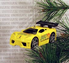 FERRARI 360 MODENA RACE SPORTS CAR YELLOW SHELL RACING CHRISTMAS ORNAMENT XMAS