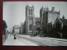 POSTCARD BRISTOL CATHEDRAL - DEANERY RD THRO COLLEGE CREEN C1900