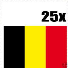 BELGIQUE drapeau 25 stickers autocollants en vinyl et mélange de tailles