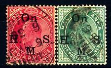 INDIA INGLESE - 1902-1909 - Francobolli di Servizio. Re Edoardo VII.