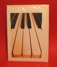 Music Gift Piano Keyboard Design Blank Greetings Card Musician Teacher Orchestra