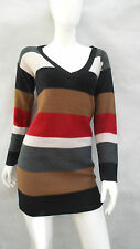 LADIES TU STRIPED MEDIUM KNIT LONG JUMPER SIZE 8