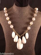 "J. Jill White and Gray Beaded 28"" Necklace"