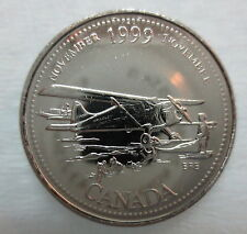 1999 CANADA 25¢ NOVEMBER MILLENIUM SERIES BRILLIANT UNCIRCULATED QUARTER