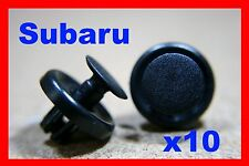 10 Subaru front bumper fender cover liner push fastener clips