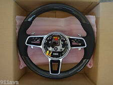 PORSCHE 2015 CAYENNE S TURBO OEM  PORSCHE NEW M F CARBON FIBER STEERING WHEEL
