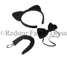 Gatos Orejas Diadema, Corbata De Moño Y Cuello Libro día Catz Fancy Dress Costume