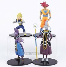 Dragon Ball Z Son Goku Vegeta Beerus Whis PVC Figures 20cm 4 figuras super