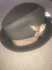 New Bailey Tino Felt Crushable Trilby Hat Brown Sz Large