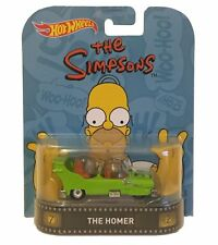 Hotwheels Retro 2016 los Simpsons Pantuflas de Homero Alloy Wheels & Real Rider Neumáticos De Goma!