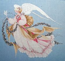 SUMMER ANGEL with Flower Garland and Dove Cross Stitch Chart