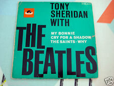 TONY SHERIDAN WITH THE BEATLES ~E.P.1ST PRESS SCROLL~POLYDOR 21610 HI-FI ~ VG++