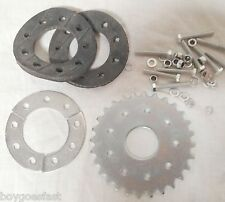 80cc Motor bicycle GAS ENGINE parts - 28 teeth flat sprocket with mount Z