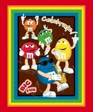 M&M'S® Licensed Big Fun M and M Candy Rainbow Large Quilt Fabric Panel