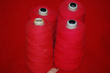 4 Cones Grove Vintage 4.5/2 Red Cotton Yarns 2lbs.8ozs. Weaving Free Ship WL14