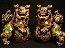 "11 1/2"" HIGH JAPANESE TAISHO PERIOD KUTANI FOO DOG / SHISHI / TEMPLE LION"