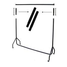 "12"" Heavy Duty Garment Display Rail Extensions - Black"