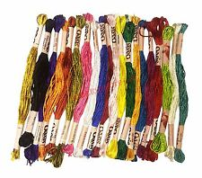 20 Oasis Art Silk Rayon Stranded Embroidery Skeins Threads Assorted Colours