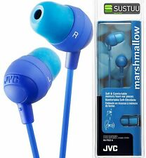 JVC In Ear Stereo Earphones for iPhone iPod Android Smartphones HA-FX32A BLUE