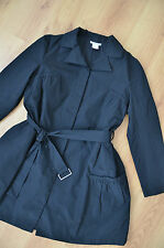 SARAH PACINI Belgium stylish black trench coat jacket Sz.3 (40)