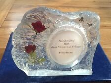 HAND MADE REAL ROSES PHOTO FRAME
