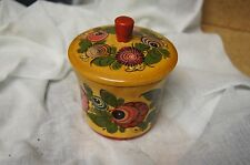 Vintage Collectible Russian Hand Made Painted Jewlery Box Container