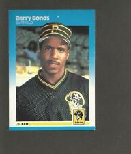 New listing 1987 Fleer # 604 Barry Bonds RC Rookie Card Pirates / San Francisco Giants