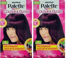 2 x NAPRO PALETTE COLOUR & GLOSS HAIR COLOUR 4-99 PURPLE CHERRY 100% Brand New