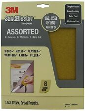 3M SandBlaster 28000 230 x 280mm Sandpaper 8 Sheets with Assorted Grits