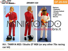 PILOTA F1 DRIVER PLASTIC KIT JAMES HUNT 1/20 GF MODELS 20022