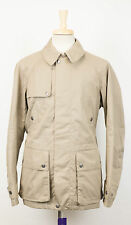 New. RALPH LAUREN PURPLE LABEL Brown Cotton Leather Trimmed Trench Coat M $2495
