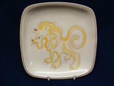 GLIDDEN MID CENTURY MODERN LION ART POTTERY CANAPE OR SNACK PLATE