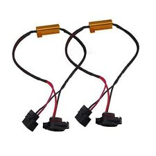 2x 5202 H16 DRL Fog Light Canbus 50W 8Ohm Load Resistor Wiring Canceller Decoder