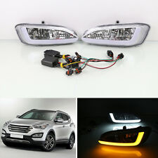For Hyundai Santa Fe/IX45 13-15 Car Lamp Corner Lamp Daytime Running Lights DRL